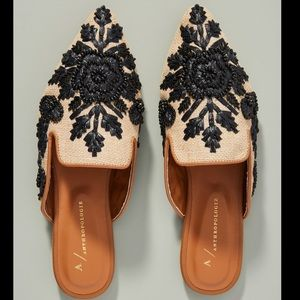 Anthropologie | Therese beaded mule